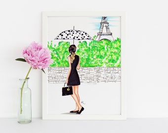 The Parisian (Fashion Illustration Print)