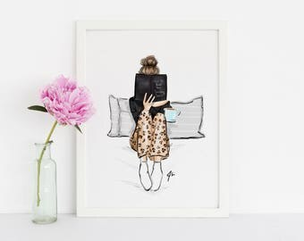 How to beat the Sunday Scaries (Fashion Illustration Print)