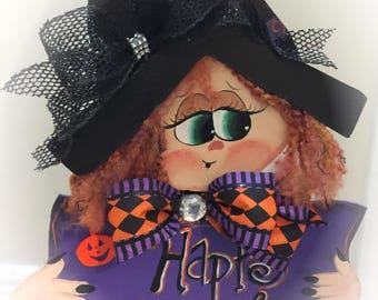Halloween Witch Decoration,Halloween witch stand,Halloween porch decoration, witch stand, XL Witch hat, Rustic Witch decor, Halloween decor