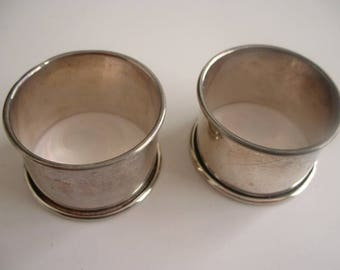 Pair of hallmarked silver napkin rings
