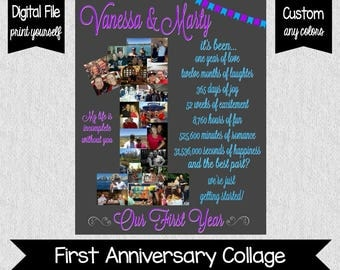One Year Anniversary - Our First Year - First Year - Anniversary Gift - Wedding - Anniversary - 1 Year Anniversary - DIGITAL - Dating
