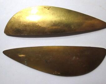 2 Vintage Large Brass Stampings/Findings