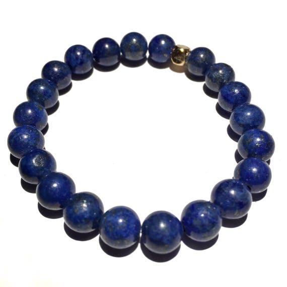 Lapis lazuli beaded Bracelet, Mens, Women, Unisex, Gemstones, Mala, Yoga, Meditation, bridal, groom, wedding, minimal, healing crystal, 8mm