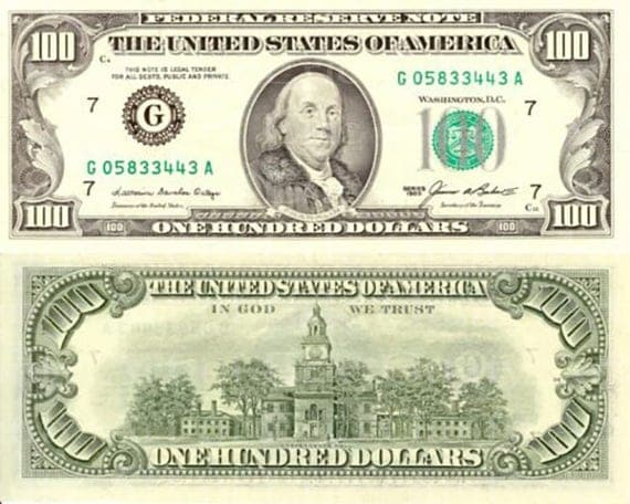 Casino Las Vegas 100 Dollar Bill Birthday - Edible Cake and Cupcake Topper For Birthday's and Parties! - D22886