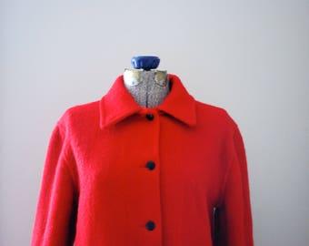 Vibrant Red Hudson's Bay Company Wool Coat