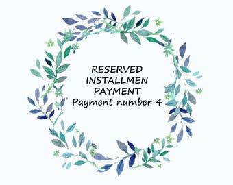 Custom order -RESERVED, INSTALLMENT PAYMENT for Govinda Kuna Payment number 4- Custom ring