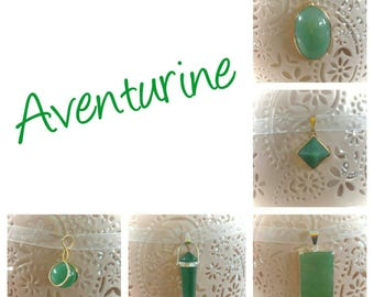 Lucky Aventurine pendant necklace