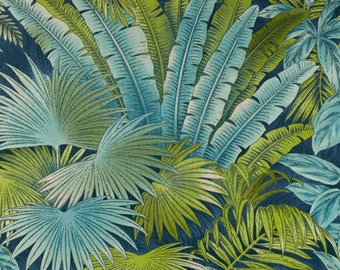Per Yard Tommy Bahama Bahamian Breeze Upholstery Fabric/ Blue Green Leaves Home  Decor Fabric Indoor