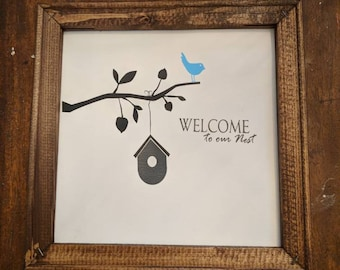 Welcome to our Nest reverse canvas
