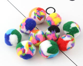 10 Pieces  20mm  Pom poms ball Colorful Polyester Ball Felt pom poms(Assorted Colors)