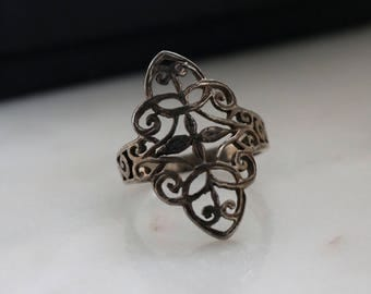 Sterling Filigree Silver Ring - Boho Silver Ring - Silver Ring