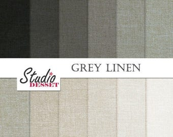 80% OFF - LIMITED TIME - Grey Linen Digital Paper - Black and White, Linen Backgrounds, Textile texture