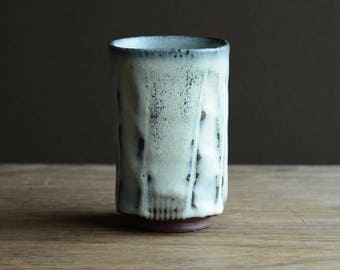 Square Yunomi - tea cup. Made from local native clay from The Dingle Peninsula.#215