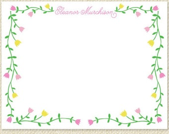 Tulip personalized stationery - quantity 25