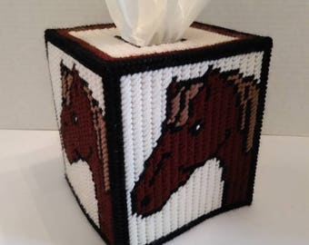 Horse tissue box cover