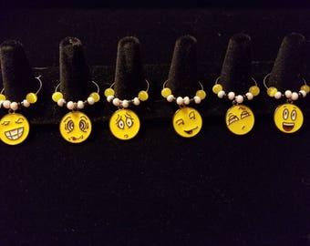 Emoji Wine Charm Markers