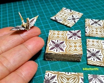 "200 Sheets 1.5"" x 1.5"" Batik Design DIY Chiyogami Yuzen Paper Folding Kit for Origami Cranes ""Tsuru"". (WR paper series). #FC15-61s."