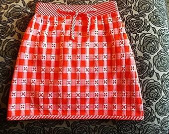 xs Vintage Gingham Skirt