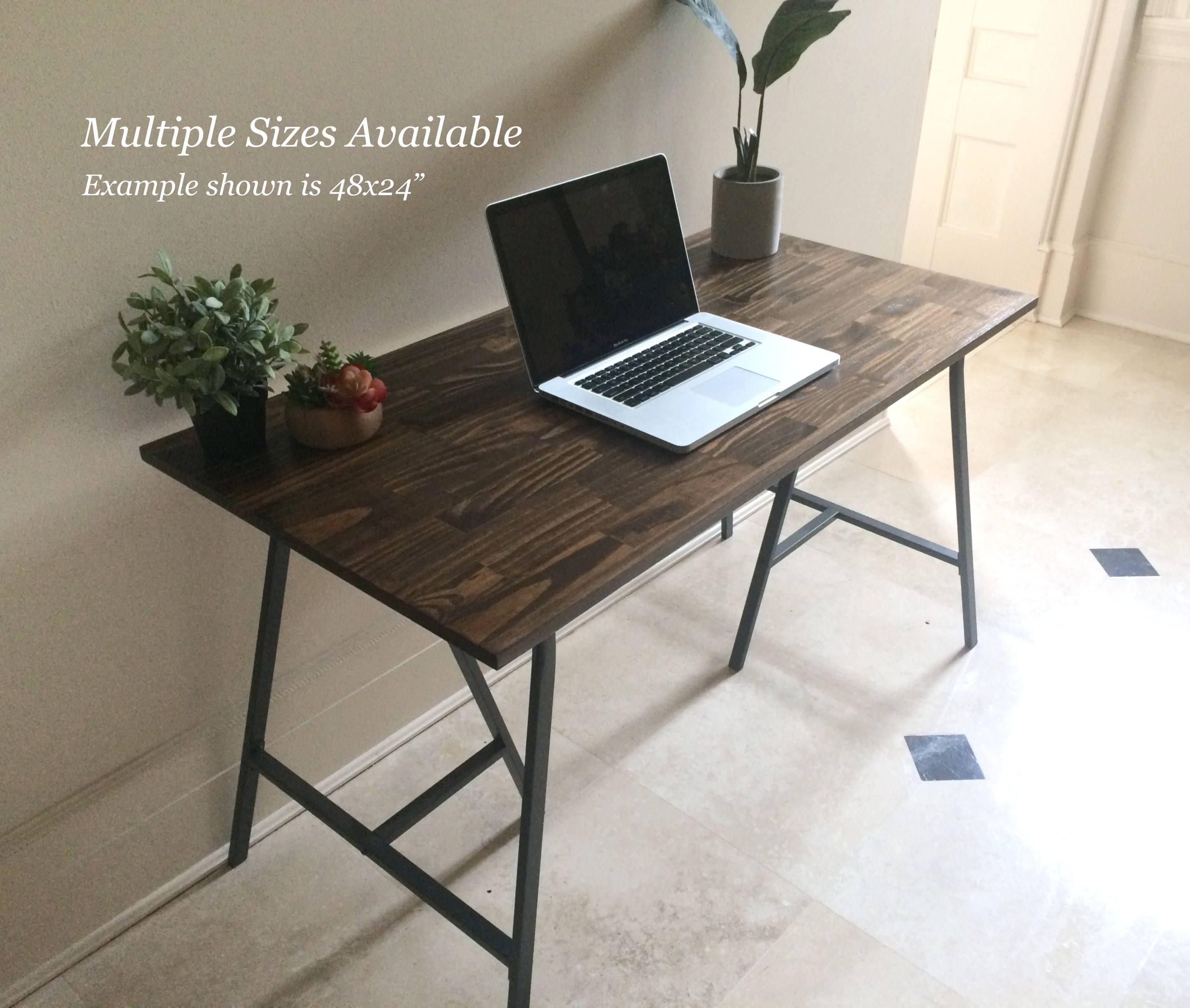 Long Desk Narrow Desk Long Narrow Desk Wooden Desk