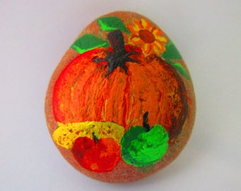 Painted rock - Thanksgiving / Harvest / Fall