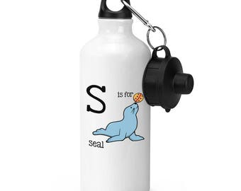 Letter S Is For Seal Sports Bottle