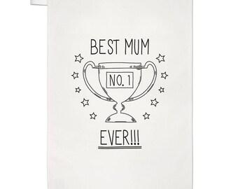 Best Mum Ever No.1 Tea Towel Dish Cloth