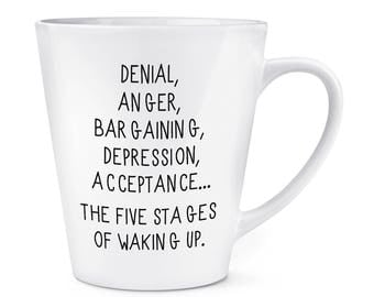 Five Stages Of Waking Up 12oz Latte Mug Cup