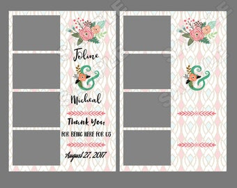50% off, instant download, wedding photo booth template,Wedding giveaway favor,wedding photo strip template,wedding selfie booth template