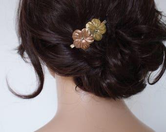 Vintage Wedding Hair clip , gold Wedding Hair Accessory - Bridesmaids Hair Accessory, Bohemian Bridal Headpiece - Boho Wedding Accessory