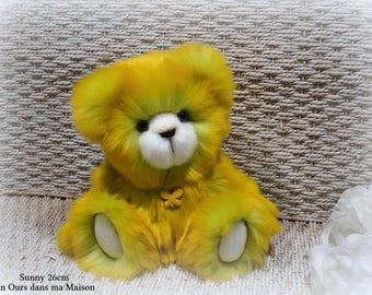 VENDUE *** !!  Sunny ours d'artiste de collection 26cm ours décoration fausse fourrure OOAK