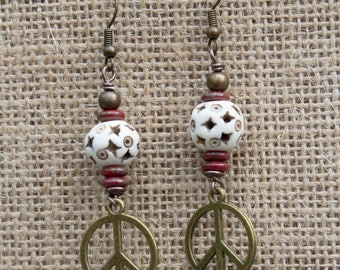 "Earrings pearls ethnic ""Inayat"""