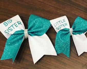 Big sis little sis matching cheer bows 2 bows