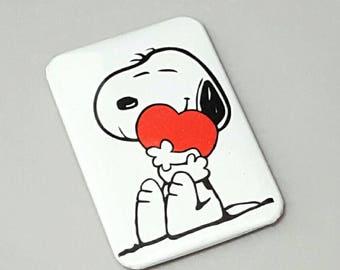 Snoopy Magnet, Charlie Brown, Fridge Magnet, Snoopy Valentine, Handmade  Magnet, Snoopy