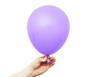 "Lilac Balloons - 11"" Latex Standard Balloon - 5 Balloons - Light Purple"