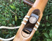 Native  American Flute, Key of Bass G, Sideblown, Made of Alder and Walnut