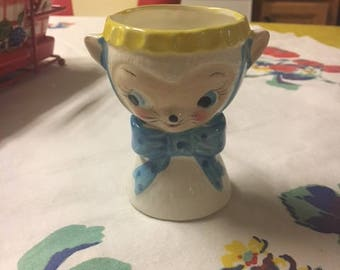 Vintage Royal Sealy Japan Kitty Egg Cup