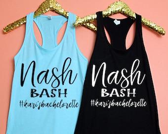 Bachelorette Party Fitted Racerback Tank Top, Nash Bash, Nash Bash Group Shirts, Bachelorette Party Shirt, Nashville Shirt