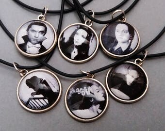classic horror icon necklace - goth jewelry - gothic necklace - nu goth
