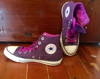 Converse All Star Chuck Taylor Purple PINK High Top Size 7 Hipster Casual Skater