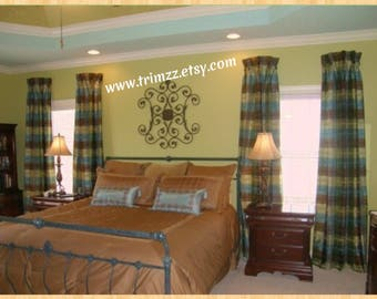 """Made-To-Order...109"""" to 120"""" Long....2 UNLINED 1 Width Curtains (1 Pair)......Using YOUR Fabric"""