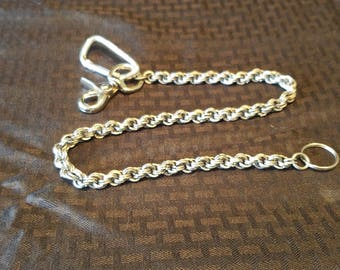 Wallet Chain, Stainless Steel, Spiral Weave, Chain Maille, Chain Maile