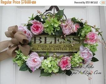 MOTHERS DAY WREATH~Mothers Day Gift Idea~Inspirational Spring Door Wreath~Summer Door Decor~FarmHouse Inspired Door Wreath~Front Door Wreath
