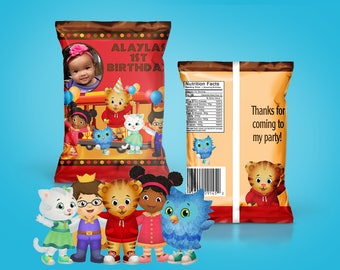 DIY PDF Template Little Tiger Themed Chip Bag Treat Bag(READ before ordering)