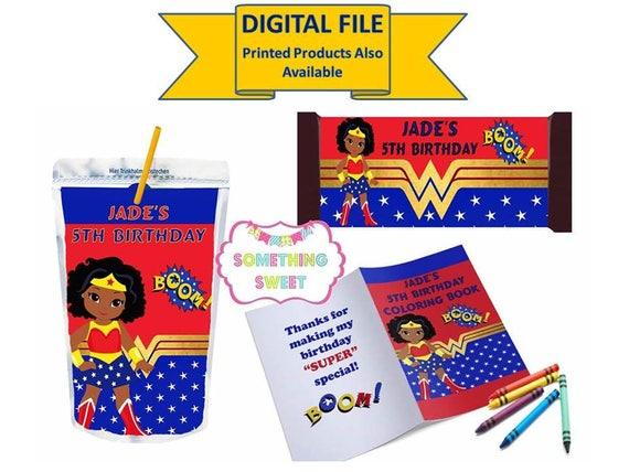 Wonder Woman Party - DIY Printable Templates - Custom Party Favors ...