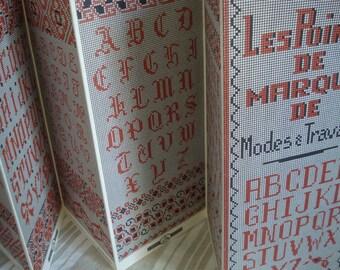 Vintage French Cross stitch Alphabet Patterns # Fleamarketbuzz