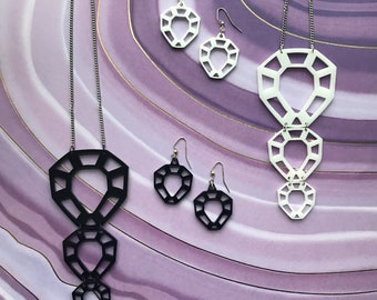 Crystal Laser-Cut Jewelry Set