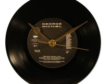 "GEORGE MICHAEL ""I BELIEVE"" VINYL clock 45tours"