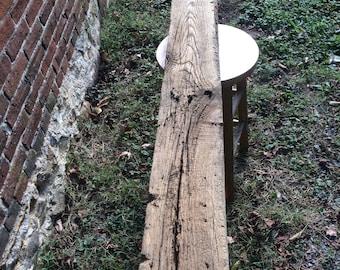1800's Chestnut Barn Beam for shelf or small mantle