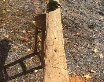 Oak Barn Beam, Fireplace Mantle, Hand Hewn