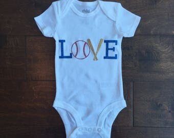 Baseball Onesie | Baby Onesie | Baby Shower Gift | Baby Boy | Baby Girl
